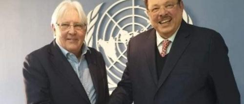 لقاء الرئيس علي ناصر المبعوث الأممي