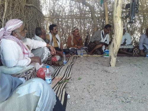 """""""الجبواني"""" رئيس أنتقالي #شبوة يلتقي عددا من مناضلي الحراك الجنوبي"""