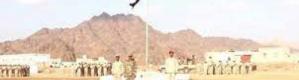 قوات لواء بارشيد بحضرموت تنظم عرض عسكري مهيب