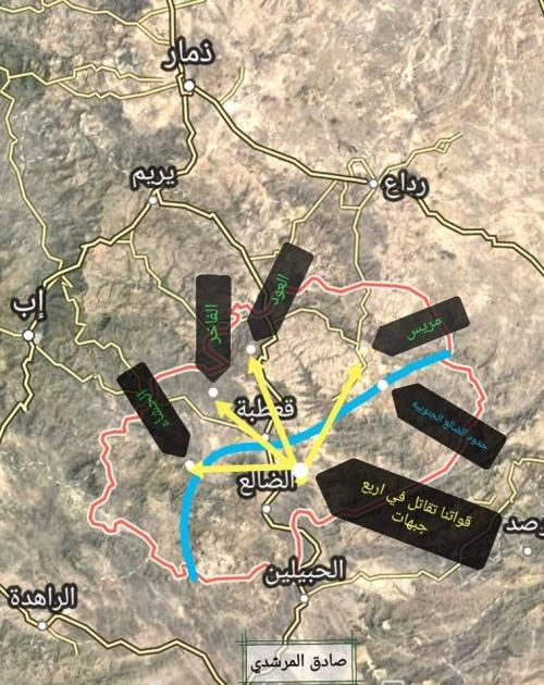 """هروب جماعي للحوثيين من جبهة """"العبارى"""" والقوات الجنوبية تمشط جبهة معزوب وتتقدم صوب الفاخر"""