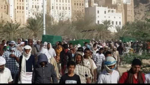 شبام تودع ثلاثة من أبنائها توفوا في حادث مروري مروع