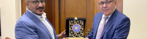 قائد المقاومة اليمنية رئيس المكتب السياسي يلتقي نائب وزير الخارجية الروسي في موسكو