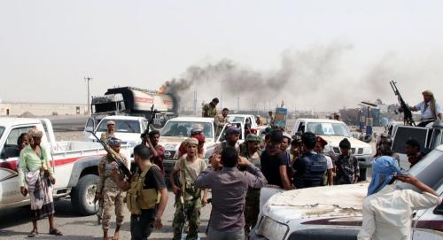 """قوات المجلس الانتقالي تسيطر على موقع لـ""""أنصار الله"""" شمال غربي الضالع"""