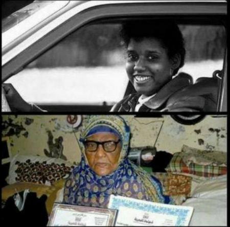 العدنية ''عيشة عرور'' أول امرأة تقود سيارة في جزيرة العرب لم تسجل عليها مخالفات مرورية