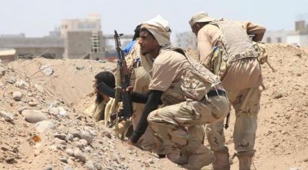 قوات الحزام الامني تسيطر على جبال مطله على مدينة دمت وتواصل تقدمها باتجاه المدينة
