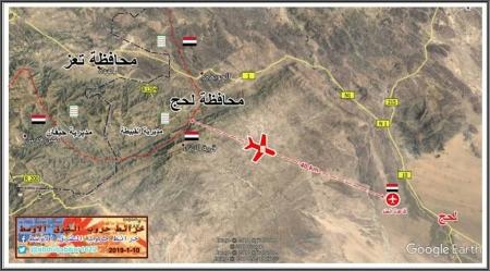 حصيلة تفجير طائرة الحوثيين في قاعدة العند 5 شهداء و 25 جريح