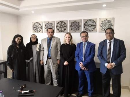 نائبة السفير ومسئولة الملف اليمني بالخارجية البريطانية تزوران قياديان بالمجلس الانتقالي الجنوبي بالرياض