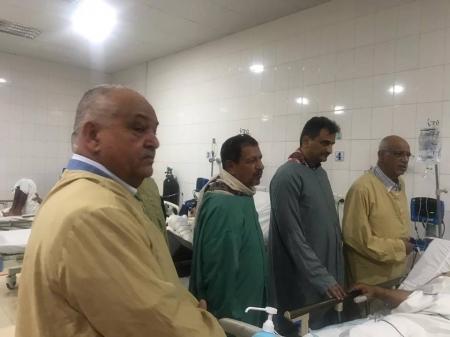 قياديان في الإنتقالي يزوران اللوائين الزنداني وطماح وعدد من القيادات والجنود في مستشفيات العاصمة عدن